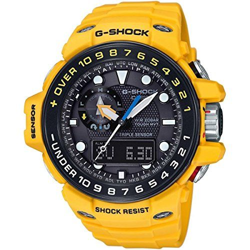 Men's Wrist Watches - GShock GWN1000H9A Gulfmaster Summer Color Theme Stylish Watch  Yellow  One Size * You can find out more details at the link of the image.