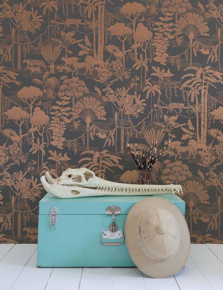 Aimee Wilder Jungle Dream Screen Printed Wallpaper in