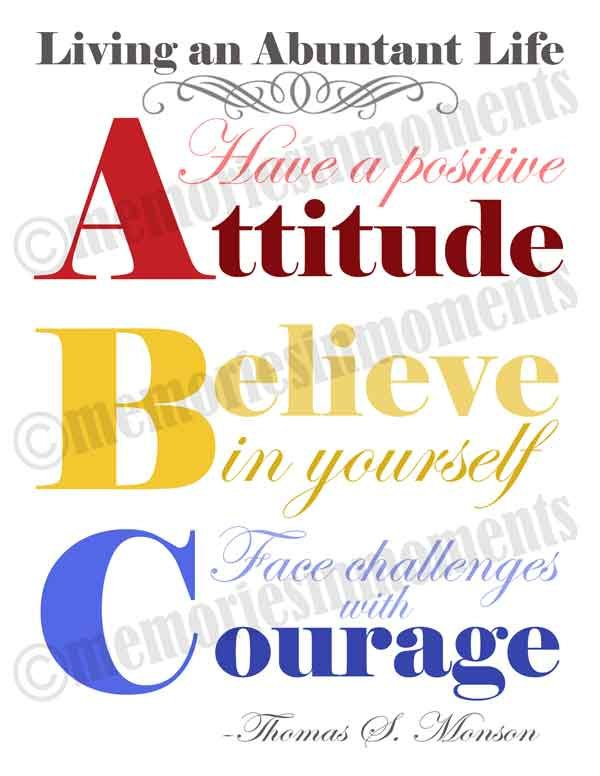 ABC Quote Primary Colors 8.5x11 We, Positive attitude
