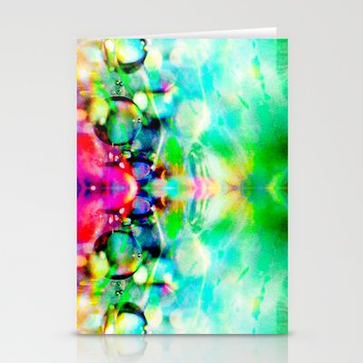 Alien Reflection Stationery Cards by The Digital Weaver - $12.00