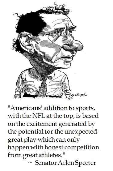 Arlen Specter on the #NFL #football