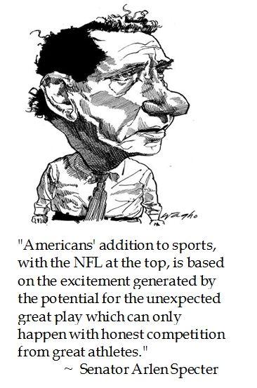 Arlen Specter on the #NFL #football