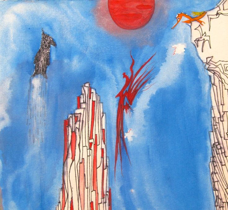 Turbo's flight!  #art #painting #paintings #paint #penandink #watercolors #inspiration #turbo #turboshouse #zaquelinesouras #zsouras
