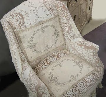 17 Best Images About Chair Upholstered With Lace On