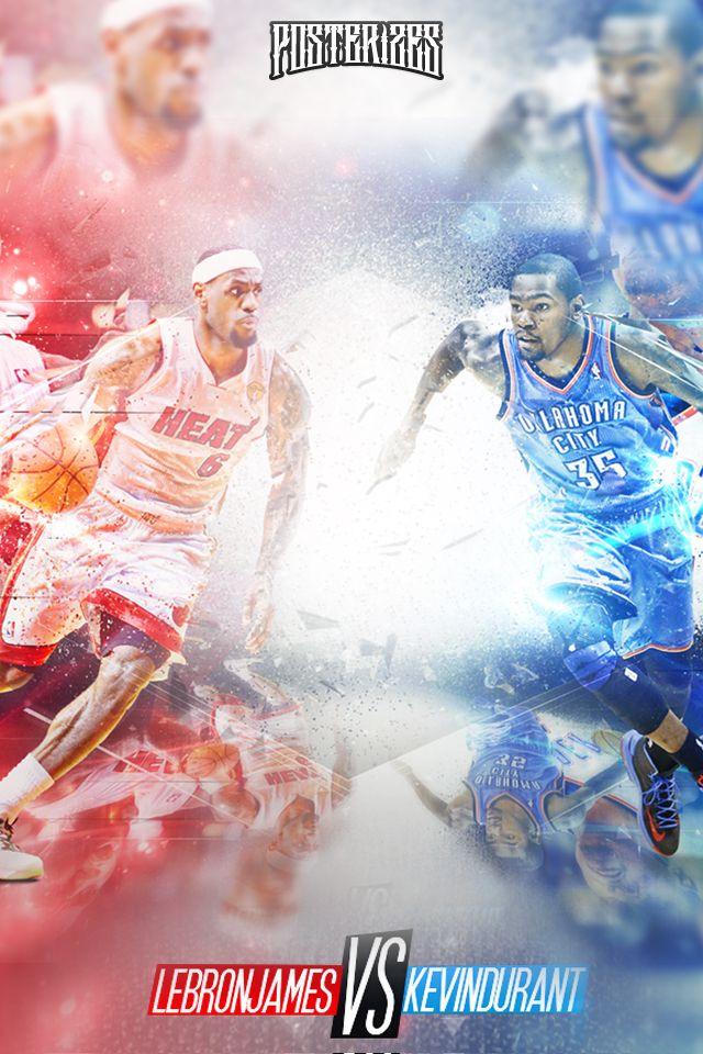 NBA LeBron James VS Kevin Durant Iphone/Ipod Wallpaper