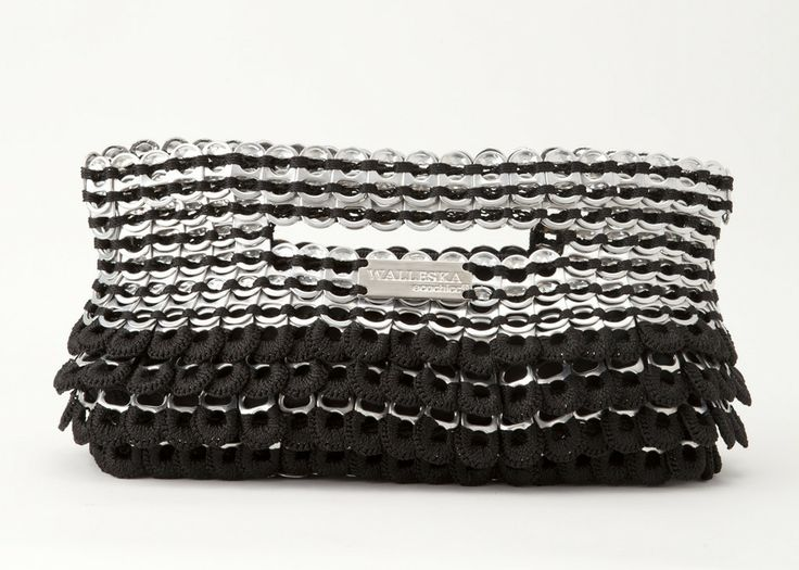 ecochicc — ELM 09 Petal Clutch (11.5x6.5) made from handmade recycled aluminum pop top pull tabs (492)
