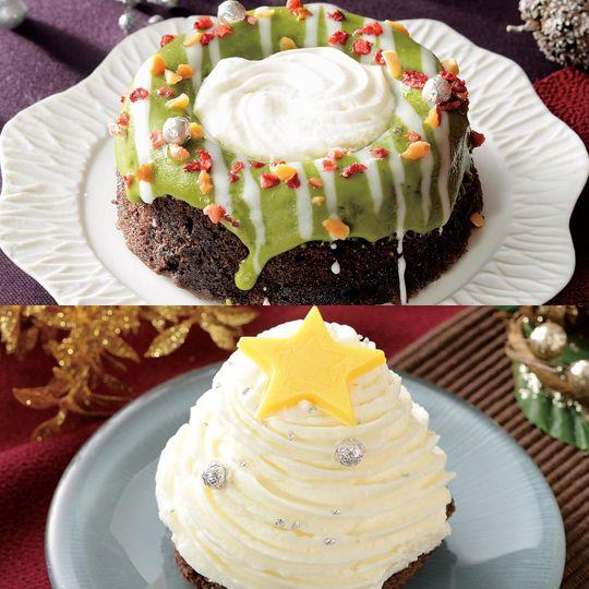株式会社ローソンは、2017年12月12日(火)より、全国のローソン店舗で、ツリーやリースなどのクリスマスモチーフを表現した、一人用サイズのケーキ「白いクリスマスツリーのケーキ」と「緑のクリスマスリースのケーキ」の2品を発売する。 ローソンは、昨年2016年に「赤いクリスマスケーキ」と「白いクリスマスケーキ」を発売し、2週間で64万食販売するなど好評だった。今年も、ホールケーキは大きすぎて買いにくい人向けに、クリスマス前から楽しめる、少し小さめのクリスマスケーキを用意。ひとりずつ好みのケーキを楽しみたい家族にもおすすめのクリスマスケーキとなっている。 白いクリスマスツリーのケーキ 税込320円 ココアスポンジの上に、ホイップクリームを絞ったツリー仕立てのケーキ。中にはアーモンドムース、キャラメルソース、ザクザクした食感のよいジャンドゥーヤを入れた。銀色のアラザンをトッピングして、ホワイトクリスマスを表現した。 緑のクリスマスリースのケーキ 税込320円…