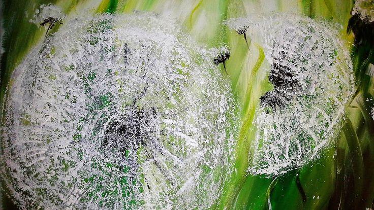 Einfach malen - Pusteblumen - Acrylmalerei - Easy Painting - Flowers