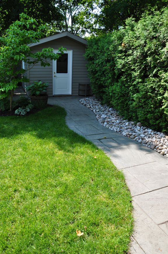 Interesting Juxtaposition Of Rock Slab · Garden PotsGarden HousesStone ...
