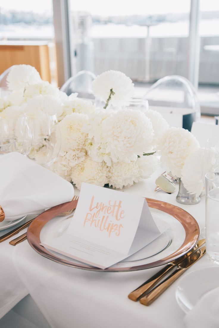 Photo courtesy of MAXMEDIALAB  MAXMEDIALAB event for Nude by Nature at Catalina Rose Bay. Handwritten place cards by @theblacklinebylauren