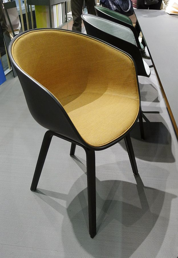 about a chair by hay with upholstered seat stockholm furniture and light fair 2013. Black Bedroom Furniture Sets. Home Design Ideas