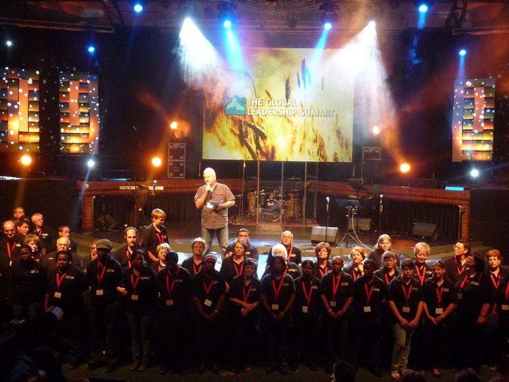 Volunteer thank you by Gerry Couchman at Johannesburg host church Woord en Lewe in 2011.