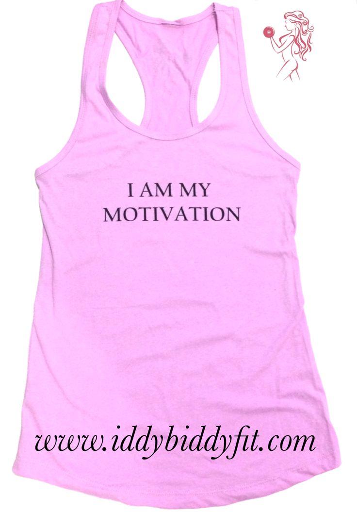 "$20 ""I Am My Motivation"" Lilac tank | gym shirt, fitness wear, gym wear , fitness motivation, athleisure"