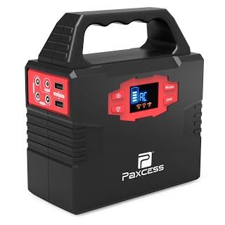 """""""Features & Benefits"""" 100-Watt Portable Generator Power Inverter, 40800mAh CPAP Battery Pack UPS Power Supply Charged by 100 Watt Solar Panel/Wall Outlet/Car with Dual 110V AC Outlet, 3 DC 12V Ports, USB Ports"""
