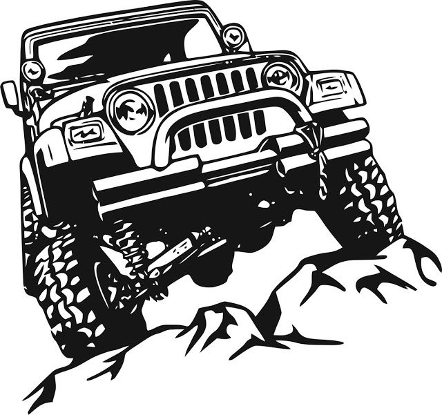 Offroad Sticker Cdr File Jeep Stickers Jeep Decals Jeep Drawing