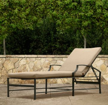 Carmel Chaise - traditional - Outdoor Chaise Lounges - Restoration Hardware