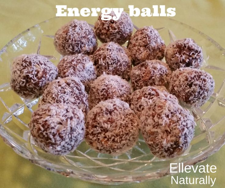 Energy balls https://www.facebook.com/ellevatenaturally/photos/a.512672888762584.128986.512666322096574/946179985411870/?type=1&theater