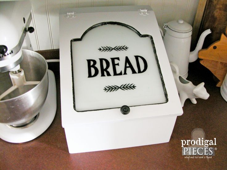 Vintage Bread Box Upcycled into Farmhouse Charging Station by Prodigal Pieces   www.prodigalpieces.com