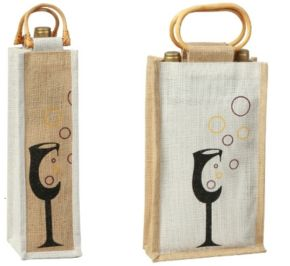 WIne bag from Jute. Your promo starts here.