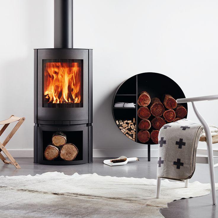 Scandia Helix 200sqm Indoor Radiant Wood Heater - Bunnings
