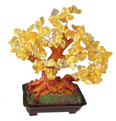 Feng shui #lucky tree 25 cm money #plant bonsai jade handicraft #gemstone gold – Money Plants