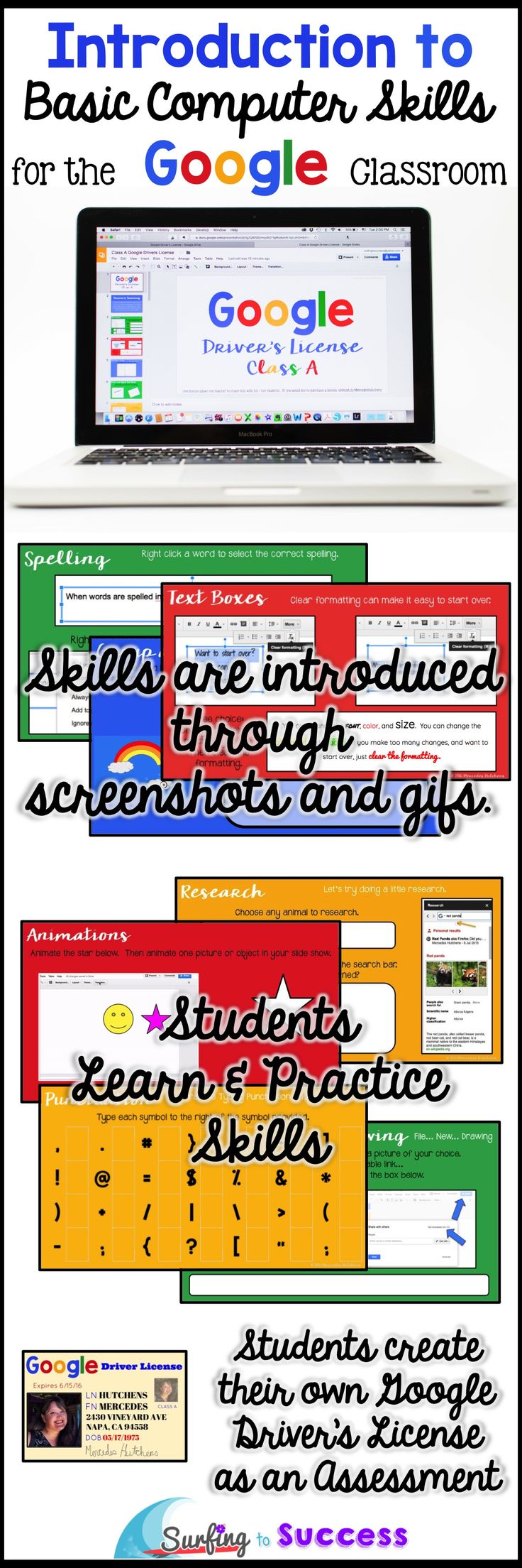 Wondering how to start using Google in your classroom? Teach your students how to use Google Slides and so much more. Help your students gain the background skills they need to learn and complete online assignments. All you need are free Google student accounts.
