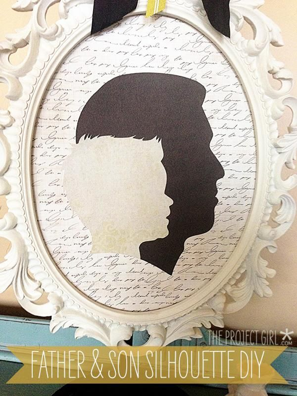 DIY Home Decor Wall Art: Father's Day Father & Son Silhouette Project DIY