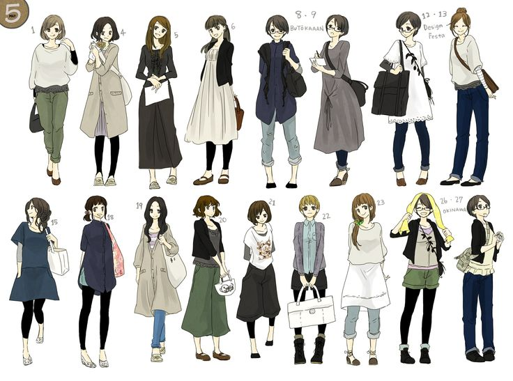 Anime Characters 165 Cm : 小资、时尚、女性、服饰、设定 character reference pinterest anime