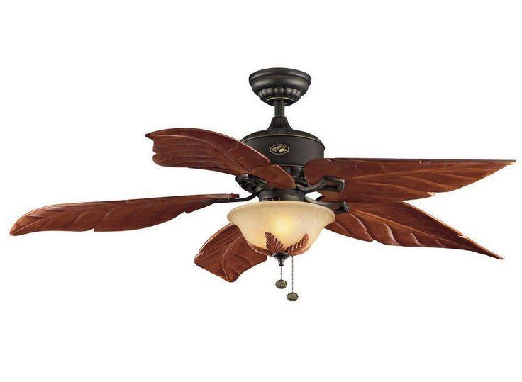 Hampton Bay Antigua 56 in. Oil Rubbed Bronze Ceiling Fan 926906 Light Kit - New  #HamptonBay #Tropical