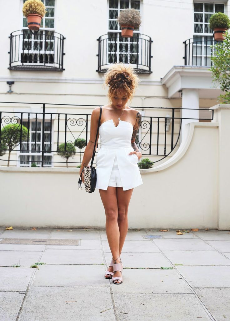 Little white dress with leopard print bag beautycrush @YouTube
