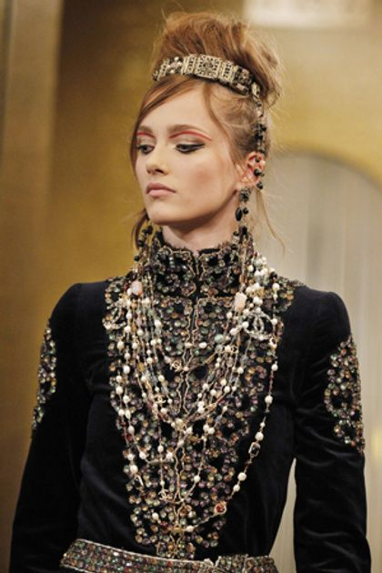 Byzantine inspired fashion. Just thought this sweet.