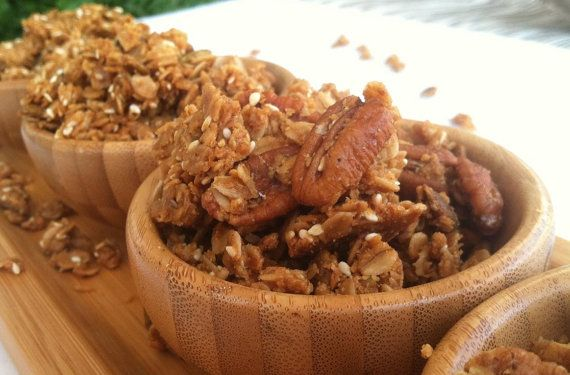 Organic Peanut Butter Granola by hannahsstitches on Etsy