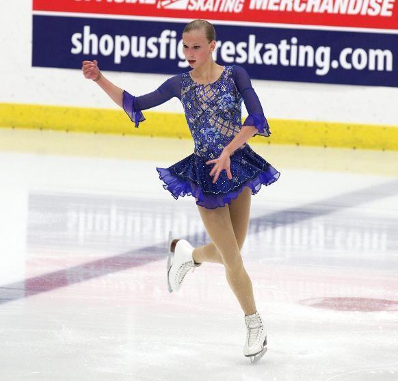 Polina Edmunds, Ladies short at U.S. International Classic 2014, Blue Figure Skating / Ice Skating dress inspiration for Sk8 Gr8 Designs