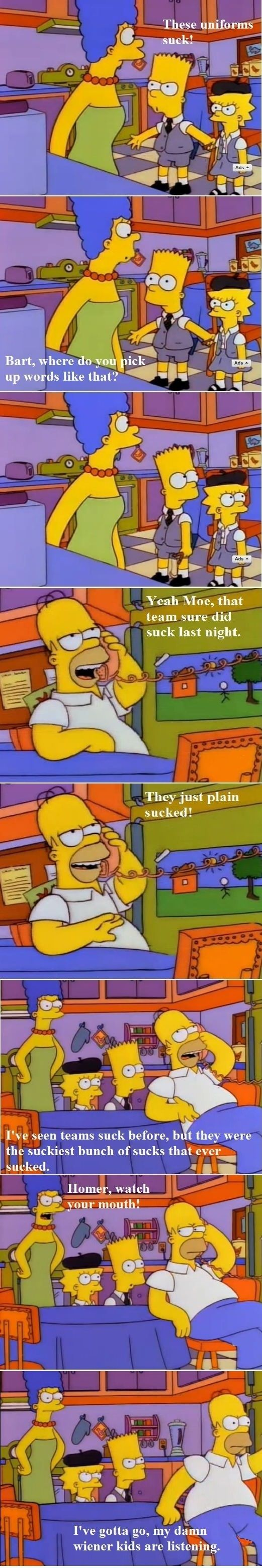 Homer, watch your mouth! // funny pictures - funny photos - funny images - funny pics - funny quotes - #lol #humor #funnypictures