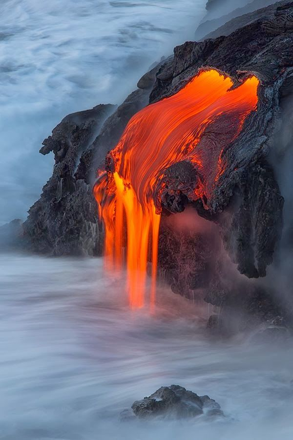 Lava Entry into the Pacific on the Big Island of Hawaii