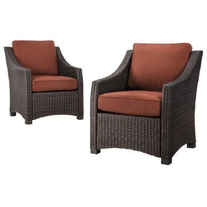 Threshold™ Belvedere Wicker Patio 2 Piece Wicker Club Chair Set