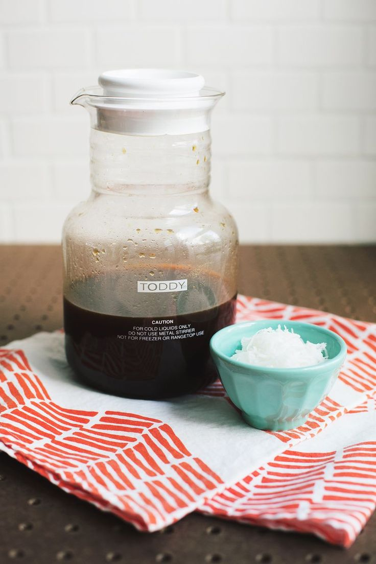 Elegant Toasted Coconut Cold Brew Coffee