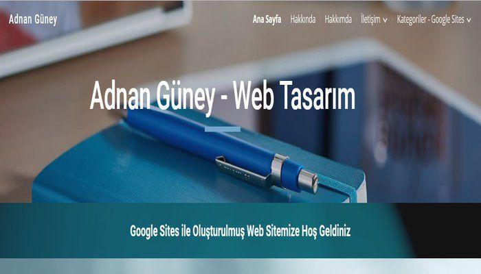 Google Sites Ana Sayfanızın tema düzeni, Ekleme araçları, Gezinme menüsü, Menü ayarları, Sayfalama ve web site yayınlama anlatım medyasını YouTube video ile izleyebilirsiniz. Google sites ile web s…