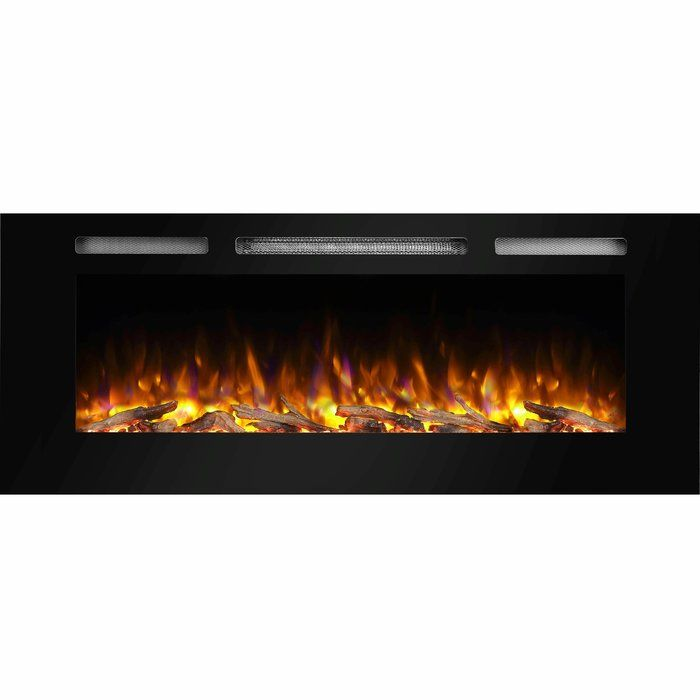 Iserman Wall Mounted Electric Fireplace Recessed Electric