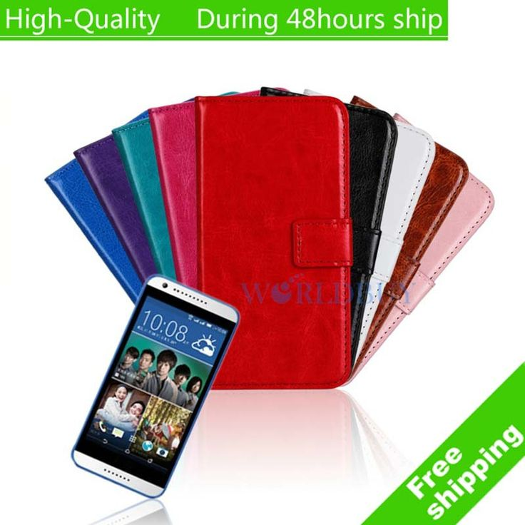 Crazy Horse Flip Leather Wallet Case Cover For HTC Desire 620