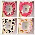 ( 5 unids/lote ) Kawaii algodón suave Hello Kitty Melody estera de baño para asiento del inodoro