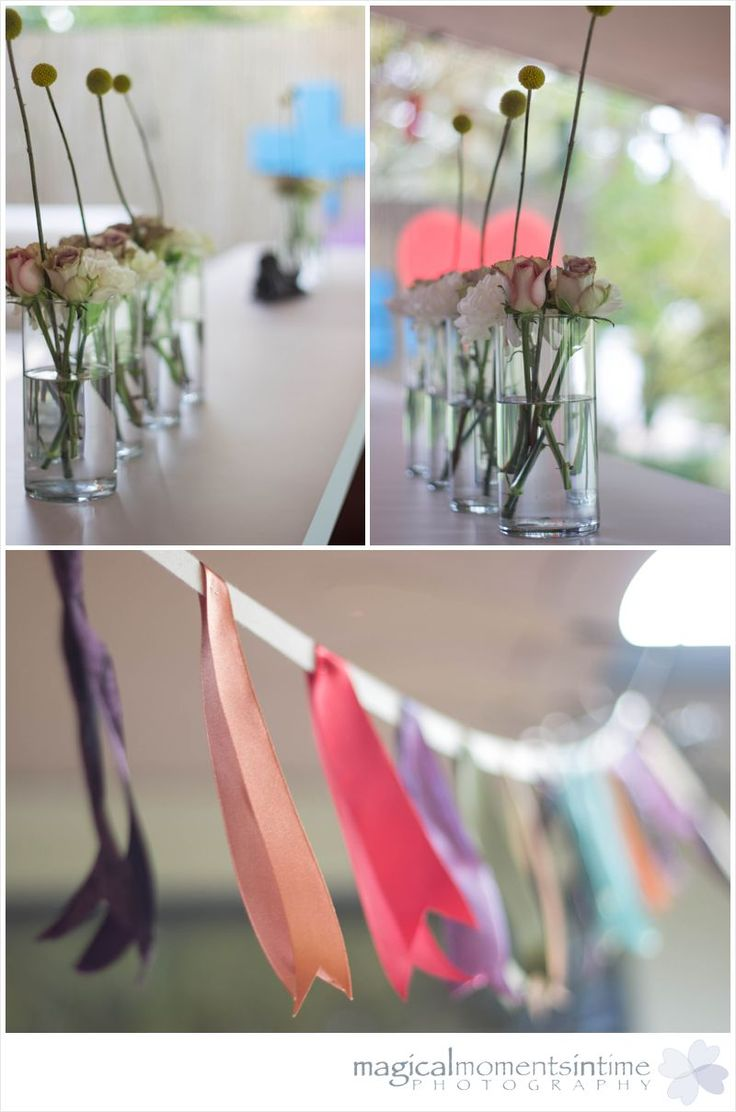 Wedding at 401 Rozendal love the ribbon bunting