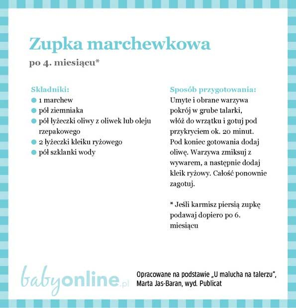 Przepisy dla niemowlaka - Zupki dla niemowlaka | Strona 2 | Baby online