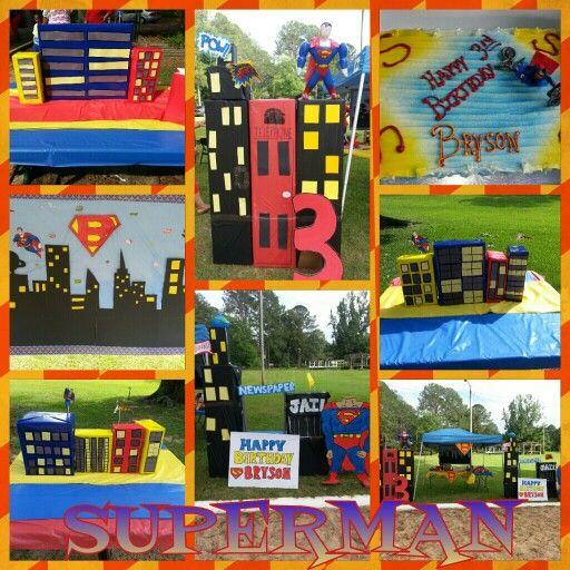 Superman party decor