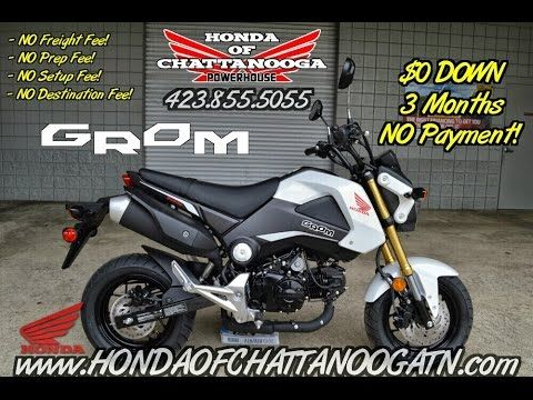 White Honda Grom Video Review of Specs / Walkaround Video of what will be the HOTTEST selling motorcycle of 2015! Check out the 2015 Grom at Honda of Chattanooga www.HondaofChattanoogaTN.com