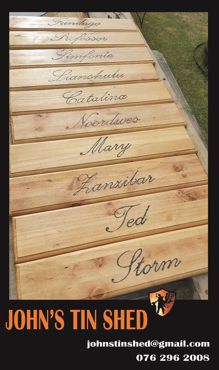 Engraving done on Name boards