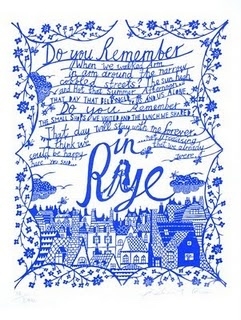 Rob Ryan 'Rye' print, as seen at Lion Street Store