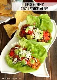 Turkey & Quinoa Taco Lettuce Wraps
