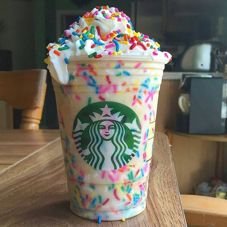 Starbucks Vanilla Birthday Cake Batter Frappuccino. HomeMade by @IG: theflexibledietinglifestyle