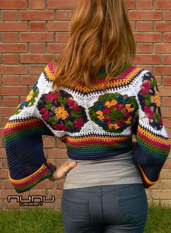 Colorful Crochet Bolero
